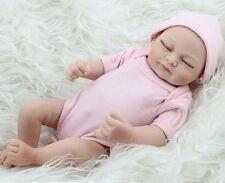 "Handmade 11"" Real-Look Vinyl Silicone Newborn Baby Girl Reborn Doll US Stock"