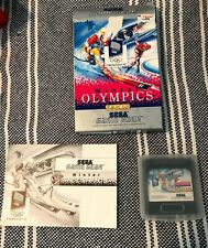 Winter Olympics (Sega Game Gear, 1993) Complete in Box (CIB), tested