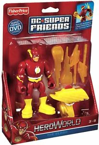 "FISHER-PRICE__DC Super Friends HEROWORLD Collection__The FLASH 4 "" action figure"