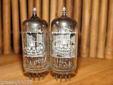 2 Vintage RCA Lowrey 12AX7 ECC83 Long Plates D-Getter Stereo Tubes 1575/1300 13
