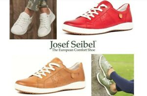 Josef Seibel Leather comfort walking shoes lace up sneakers Caren 01