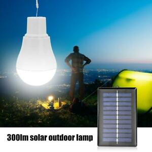 15W Solar Powered LED Light Bulbs Outdoor Indoor Camping Tent Rechargeable Lamp