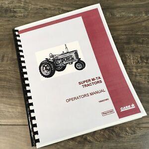 FARMALL INTERNATIONAL SUPER M-TA TRACTOR OPERATORS MANUAL OWNER BOOK MAINTENANCE