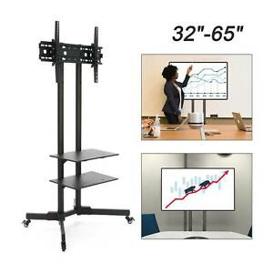 "32""-65"" Mobile TV Stand Cart Floor Mount Home Display Trolley for Plasma/LCD/LED"