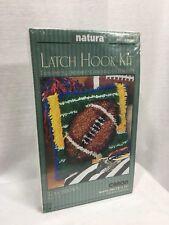 "Latch and hook rug kit Football Caron Natura 12"" x 12"" sealed wall hanging P541"