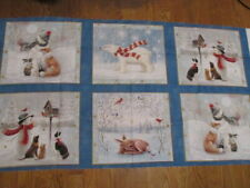 Fabric Panel / frames - Christmas - Snowmen, Dogs, Forest animals