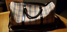 Burberrys Travel Bag Light Brown PVC