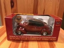 House Of Kolor '37 Ford Club Cabriolet Street Rod Bank Speccast 1:25th Scale Car