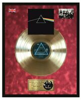 Pink Floyd - The Dark Side Of The Moon Goldene Schallplatte im Rahmen