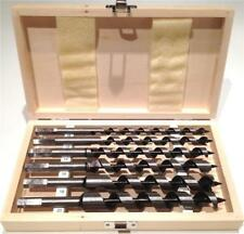 Sthor 6 pcs hex wood auger drill bits set in wooden case 230 mm long (22465)