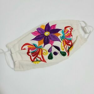 Mexican Artisan Made Linen Embroidered Face Mask