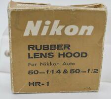NOS - Nikon Nikkor HR-1 52mm Rubber Prime Lens Hood Shade For 50mm F1.4 F2.0 Etc