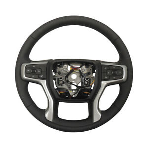 2019 Chevy Silverado 1500 Heated Steering Wheel Assembly Black Leather 84755546