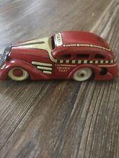 Vintage Original Marx Tricky Taxi Tin Litho Windup Toy Car 7108