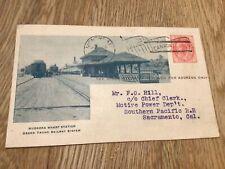 Montreal Grand Trunk Railway Muskoka Wharf Station 1899  stamps card 57525