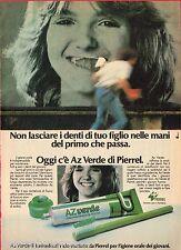 Pubblicità Advertising 1981 dentifricio AZ VERDE