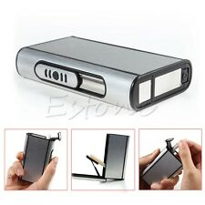 New Pocket Aluminum Cigarette Case Automatic Ejection Holder Metal Box