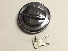 NOS CHROME Locking Gas Cap w/ Swiveled Keyhole Cover fits 71-75 Opel & 80 VW