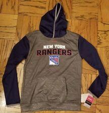 1 New York Rangers Reebok Hooded Sweat Shirt Youth Size 14/16 L