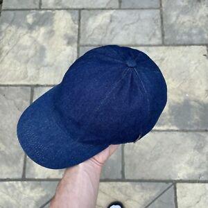 Burberry Denim Cap With Nova Check Tab One Size
