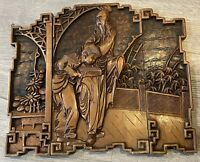 Vintage Chinese Wood Carved Panels Hand Crafted 3D Decor Rare