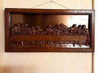 Vintage Framed Coppercraft Guild LAST SUPPER 3D Wall Art Plaque Copper & Molded