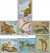 Laos 929-935 (complete issue) unmounted mint / never hinged 1986 Snakes