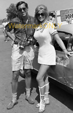 "Linda Vaughn ""Miss Hurst Golden Shifter"" SEXY White ""TIGHT"" mini Skirt PHOTO!"