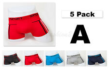 "5pc S 28-30"" New Soft Cotton Mens Boxer Briefs Trunk Short Underwear Plain"