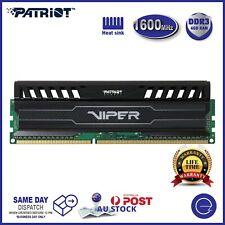 Patriot DDR3 4GB I 8GB I 16GB (8Gx2) 1600MHz RAM CL10 Desktop PC Heatsink Memory