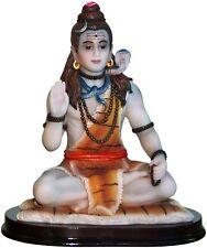 SHIVA MEDITATE India Hindu STATUE flowers Siva Murti K39