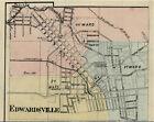 Edwardsville Illinois Madison Co IL 1876 Map Genealogy