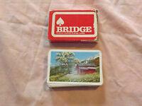 VINTAGE WOOLWORTH WOOLCO PLASTIC COATED  BRIDGE PLAYING CARDS