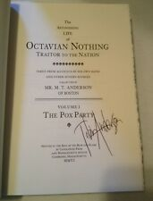 SIGNED The Astonishing Life Of Octavian Nothing By M.T. Anderson + PHOTO