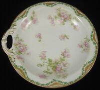 Vintage LIMOGES HAVILAND SCHLEIGER SOUP BOWL Floral Pattern Gold Trim Porcelain