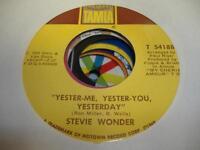 Soul 45 STEVIE WONDER Yester-Me, Yester-You, Yesterday on Tamla