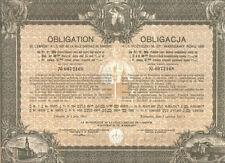Russia Poland City Warsaw 4.5% bond 1931 284 fr UNCANCELLED Deco coupons