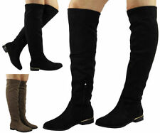 Look Synthetic Low Heel (0.5-1.5 in.) Boots for Women