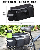 Cycling Bike MTB Rear Tail Seat Pannier Bag Pouch Rack Trunk Travel Shoulder