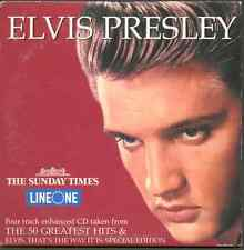 ELVIS PRESLEY: 4 TRACK ENHANCED UK PROMO CD WITH SUSPICIOUS MINDS VIDEO (2001)