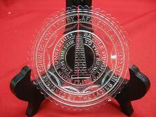 ANTIQUE / VINTAGE BATTLE OF BUNKER HILL GLASS PLATE