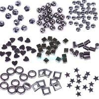 New 20-100pcs Black Hematite Gemstone Spacer Beads Round Square Star Heart