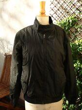 Blouson homme Zara Man synthétique noir zippé Taille M
