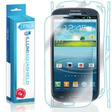 2x iLLumi AquaShield Front Screen + Back Panel Protector for Samsung Galaxy S3