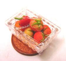 1:12 Scale Plastic Punnet Of 7 Tomatoes Tumdee Dolls House Miniature Vegetable