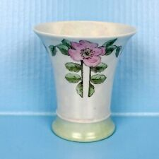 Thomas Bavaria Artist Signed Porcelain Vase Hand Painted Germany Roses Iridescen