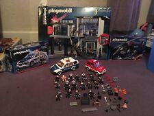 Playmobil Police Lot de 3 voitures hélicoptère et station Boxed plus extras