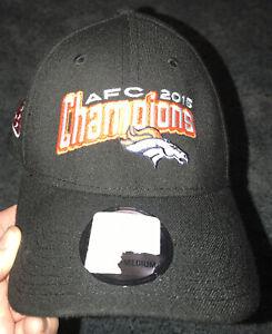 New Men's AFC North Champions 2015 Denver Broncos Hat. New Era Sz Small/medium