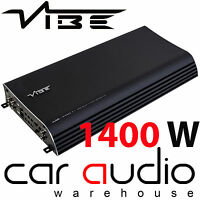 VIBE Slick SLICKCH5-V2 1400 Watt 5 Channel Bridgeable Car Audio Amp Amplifier