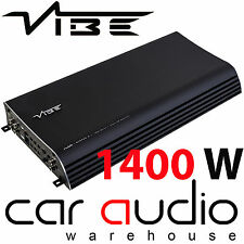 VIBE Slick SLICKCH5-V2 1400 Watt 5 Channel Bridgeable Car Audio Amp Amplifier